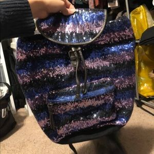 Aeropostale ombré sequins backpack